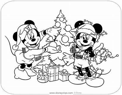 Minnie Mickey Mouse Colorare Natale Topolino Coloring