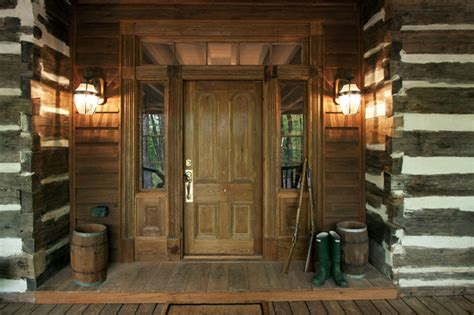 talking rock log cabin