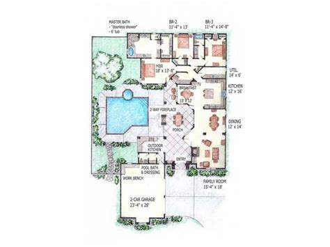 courtyard plans open floor plans small home home floor plans with