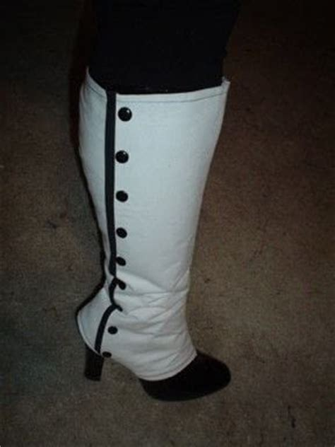 knee high victorian spats boot covers    boot