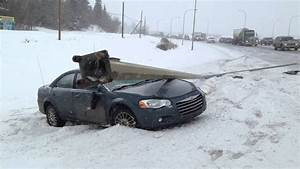 Highway Car Accident - Spinning Out In Snow