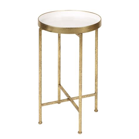 round metal end table kate and laurel deliah round metal accent table end table