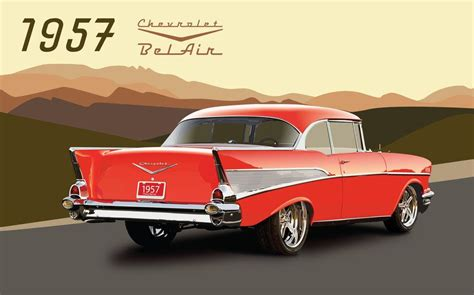 57 Chevy Bel Air Wallpaper by 57 Chevy Wallpaper 57 Chevrolet Belair By Ichiwings