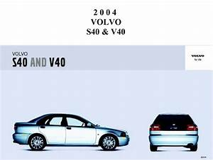 Volvo S40-v40 2004 Owner U0026 39 S Manual