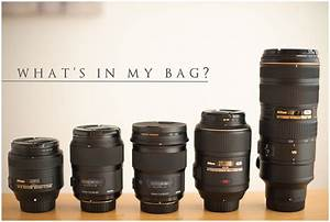 Whats in my bag virginia wedding photographer audrey for Wedding photography lenses nikon
