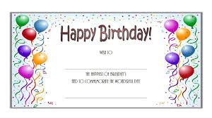 printable format birthday gift certificate