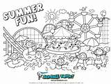 Coloring Summer Pages Preschool Adults sketch template