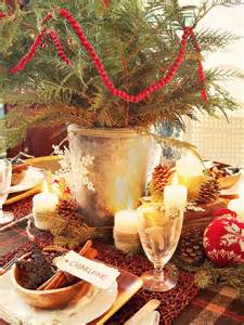 rustic christmas table decorations 2012 ideas from hgtv home interiors