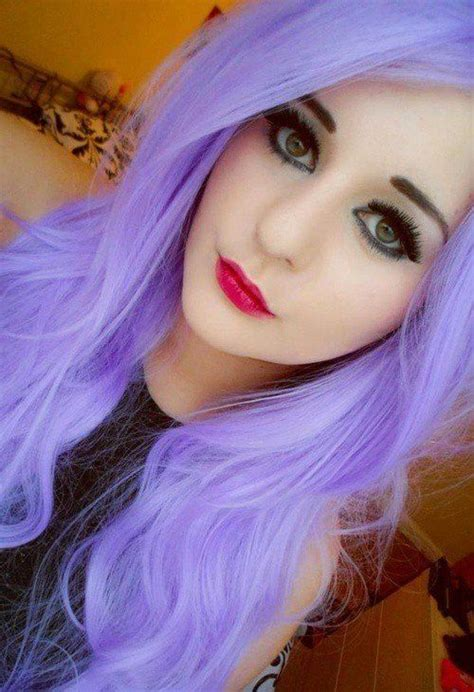 Bright Light Purple Hair Hair I Want Pinterest