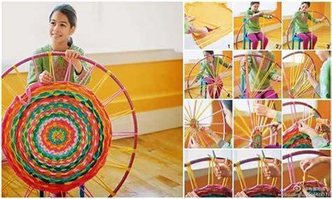 weave  hula hoop rug diy cozy home