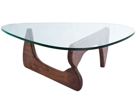 Noguchi Coffee Table  19mm Glass (platinum Replica