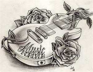 Dessin pour tatouage musique for Amazing couleur pour un salon 13 dessins black crow tattoo