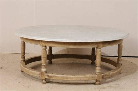 White Marble Top French Over-sized Round Wood Coffee Table Robusta Coffee And Drip Vs Percolator Target Iced Maker Abu Dhabi Painting Background Columbia Sc Ground Break