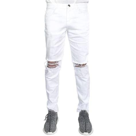 white jeans ripped  men white jeans  men