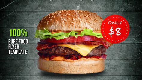 beautiful burger flyers word psd ai eps vector