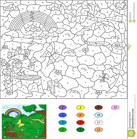 color  number educational game  kids forest glade