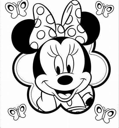 Minnie Mouse Mickey Drawing Simple Coloring Pages