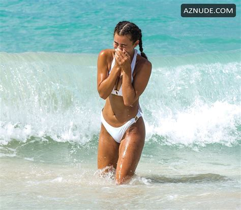 Montana Brown Sexy On The Golden Sandy Beaches Of Barbados