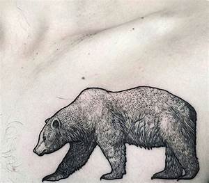 Grizzly Bear Outline Tattoo