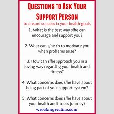 Questions To Ask Your Support Person  Wrecking Routine