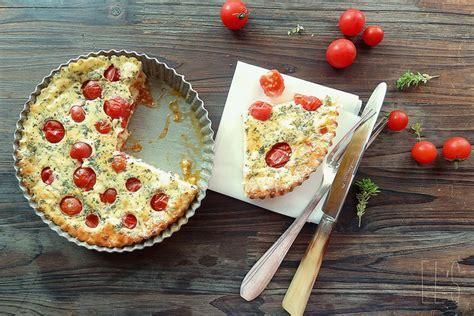 quiche sans p 226 te aux tomates cerises feta et basilic sans gluten aime mange