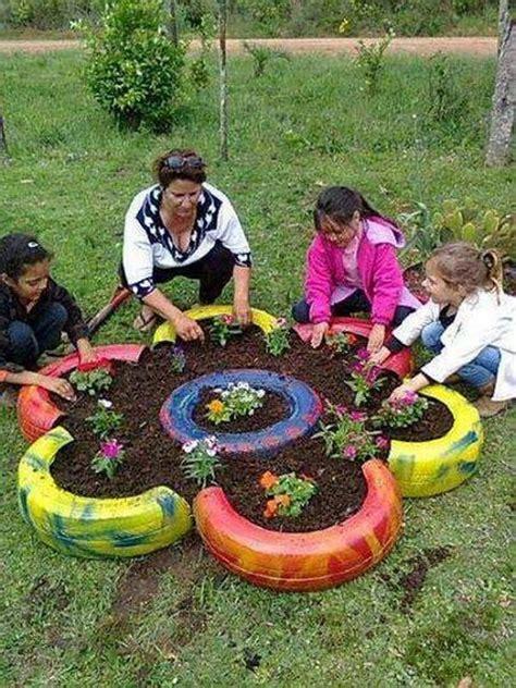 oto pot les pneus au jardin astuces bricolage