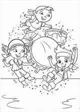 Coloring Jake Pages Disney Pirates Neverland Jr sketch template