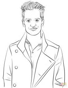Ed Sheeran Kleurplaat by Brendon Urie From Panic At The Disco Coloring Page Free