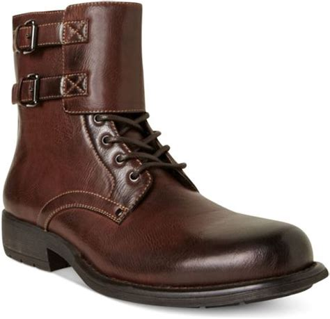 Steve Madden Pello Motorcycle Boots In Brown For Men Lyst