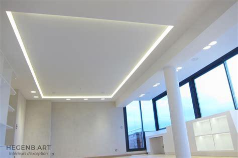 cuisine faux plafond hegenbart plafond lumineux avec éclairage led encastré