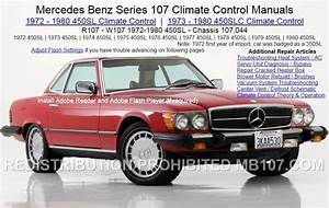 Mercedes Benz 107 Climate Control Heat Ac Air Condition