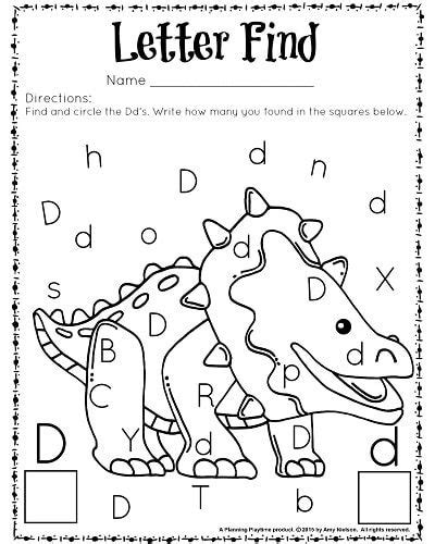 cute letter find worksheets with a freebie preschool