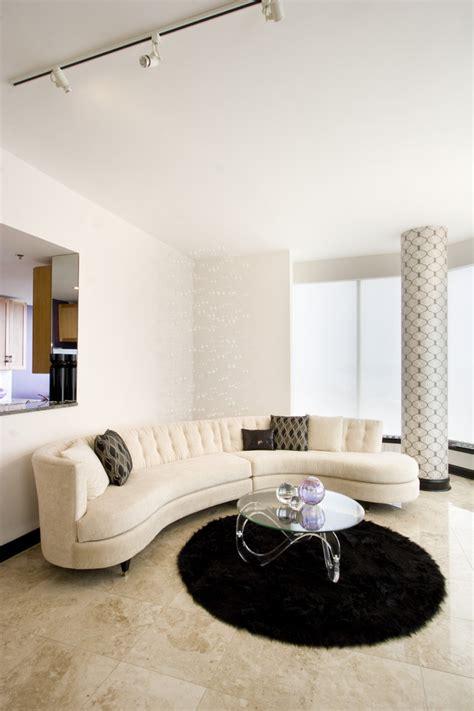 home decorators curved sofa contemporary coffee living room contemporary with