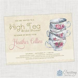 Vintage Tea Cup, Bridal Shower Invitation, Baby Shower ...