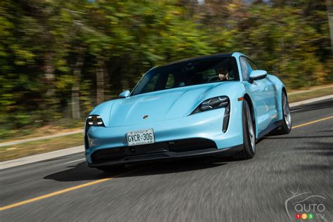 A rival to the tesla model s, the range counts the 4s, turbo and turbo s, and even the base model is loaded with gear and capable of giving supercars a watch also: 2020 Porsche Taycan 4S review | Car Reviews | Auto123
