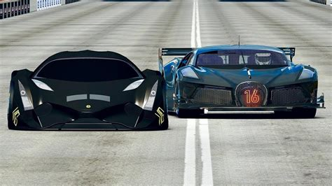 This is the opening of the 2020 hot wheels 20 pack with a black bugatti chiron. Bugatti Black Devil VGT vs Devel Sixteen Total Black Edition 2020 - Drag Race 2 KM - YouTube