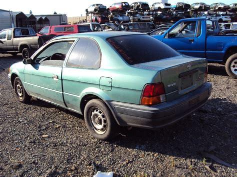 Toyota Tercel Parts by 1996 Toyota Tercel 2 Door 1 5l At Color Green Stk