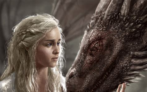daenerys targaryen art hd tv shows  wallpapers images
