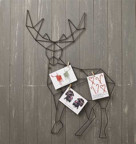 hanging reindeer christmas card holder by lime lace notonthehighstreet com
