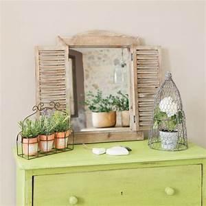Miroir Fenetre Maison Du Monde : miroir fen tre en bois h 52 cm champetre maisons du monde ~ Teatrodelosmanantiales.com Idées de Décoration