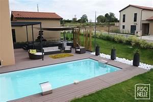 Piscine Enterrée Rectangulaire : reportage photo piscine rectangulaire en gironde ~ Farleysfitness.com Idées de Décoration