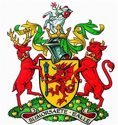 Somerset Heraldry Crest Insignias Arms Coat County