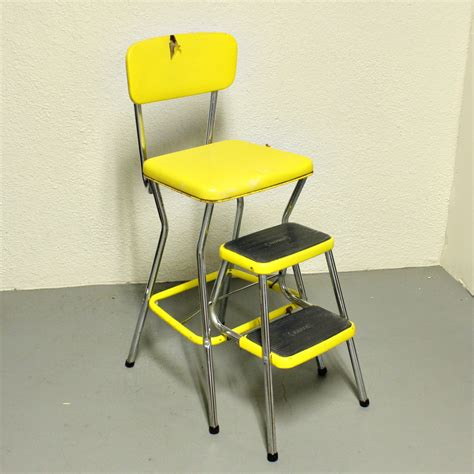 Cosco Step Stool Chair Vintage by Vintage Cosco Stool Step Stool Kitchen Stool Chair
