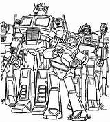 Robots Coloring Pages Boys Transforming Robot sketch template