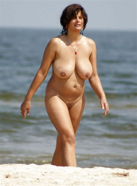 Thick Big Titty Mom Nude On The Beach Milf Luscious