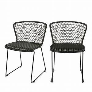 Chaise De Jardin Design : chaises de jardin en corde x2 quadro drawer ~ Teatrodelosmanantiales.com Idées de Décoration