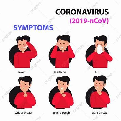 Corona Symptoms Virus Infographic Vector Clipart Background