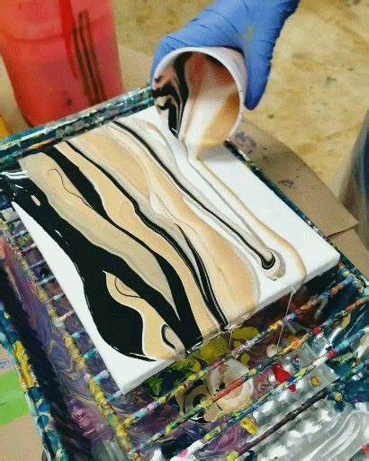 Acrylic Painting Fluid Pouring Resin Simple Primal