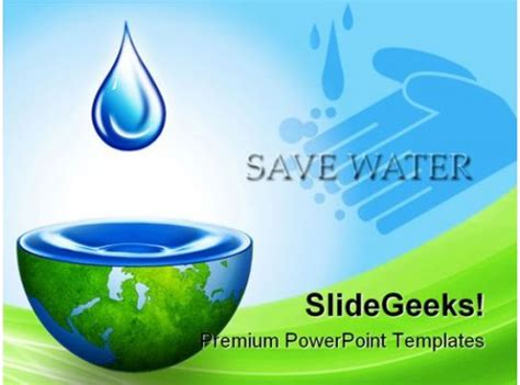 save water environment powerpoint backgrounds