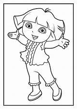 Coloring Dora Pages Diego Explorer sketch template